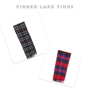 Two Plaid Winter Scarves, One Cashmere